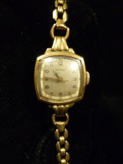 ANTIQUE SWISS TAVANNES 17 JEWELS 10K GOLD FILLED LADIES WATCH