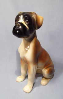 Hand Painted Ceramic Large Boxer Dog Statue Figurine   Darling