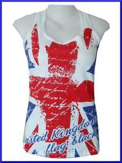Tank Top Shirt British Flag United Kingdom London Jack Beach Summer