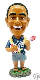 NEW Hawaiian Dashboard Bobble Head Doll ~ PRESIDENT OBAMA W/ UKULELE 4