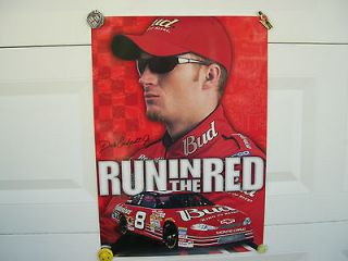 DALE EARNHARDT, JR #8 BUDWEISER RUN IN THE RED NASCAR POSTER