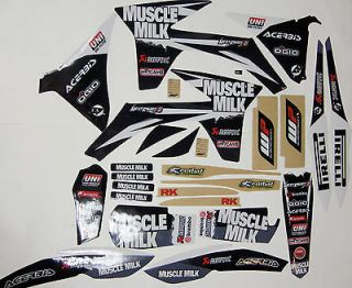 KTM SX SXF 125 250 350 450 MUSCLE MILK GRAPHICS KIT 2011 12 WEST COAST