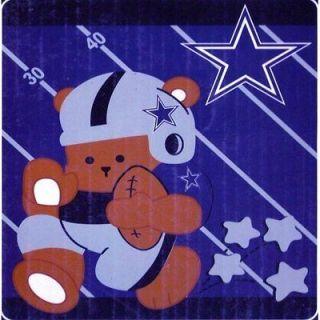 Dallas Cowboys 40X50 Royal Plush Raschel Baby Blanket VERY SOFT
