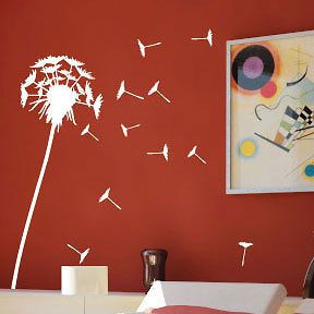 Large Dandelion Flower Tree Wall Stickers/ Wall decals