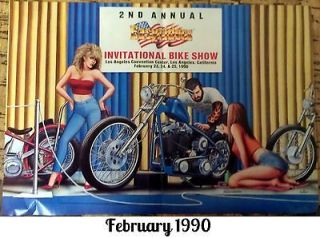 David Mann Centerfold Poster Easy Rider February 1990 Biker Art