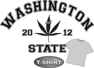 Pot Marijuana Weed T Shirt 420 Washington State 4 fans of Tobacco