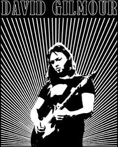 New Authentic Mens David Gilmour Live Tee Shirt in Black