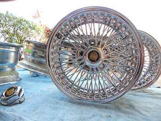 Dayton 70 Spoke Chrome Wheels Jaguar Rims Set of 4 with Jaguar Center