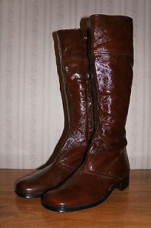 Vintage Italian Suede Leather Boots Knee high Sz 40.5 Mens/Womens/Un