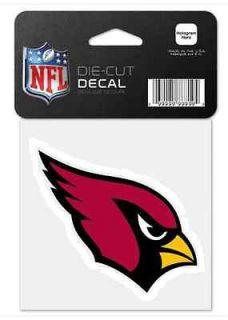Arizona Cardinals Car Window Decal 4 x 4 Die Cut Logo