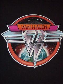 VTG 1970s Van Halen Concert T  Shirt S/T Lp Logo MINT LARGE