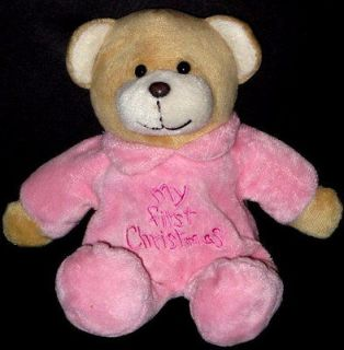 DanDee Dan Dee My First Christmas Plush Teddy Bear Baby Toy Lovey Pink