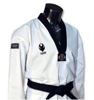 FIGHTER]Korea TKD TaeKwonDo DAN uniforms Black Collar uniform DOBOK