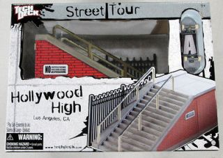 Tony Hawk Tech Deck Hollywood High Sk8 Park Stairs Ramp Stakeboard