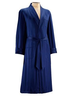Derek Rose Men's Lingfield 1 Classic Dressing Gown – Navy