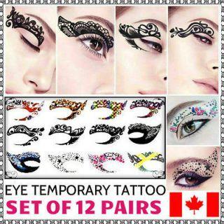 Minaj Rhiana Star Body Art Temporary Eyeliner Tattoo Sticker Henna