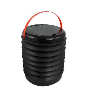 Magic Car Container Barrel Trash Bin Storage Bucket Black Red 2.8L