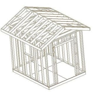 10X8 GABLE GARDEN SHED, 26 BARN GARDEN SHED PLANS, CD, STEP BY STEP