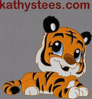 Baby Tiger   Machine Embroidery Designs Set of 10 On CD
