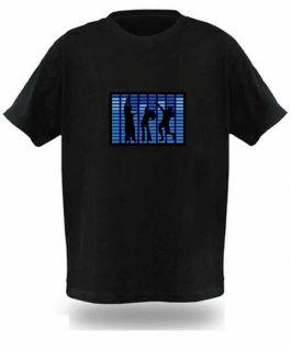 Graphic Equalizer Sound Activated EL LED Disc DJ Dancer T Shirt JG2K