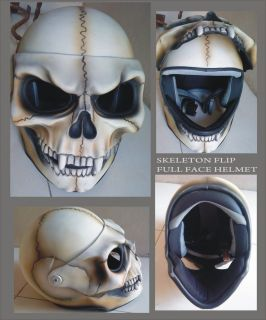 skeleton full face lift helmet harley davidson helmet