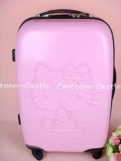 Hello Kitty 24 Luggage Bag Baggage Trolley Roller Pink