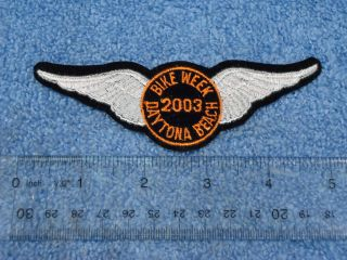 Daytona Beach Bike Week 2003 Harley Davidson Style 5 Iron On Patch
