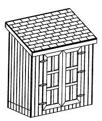4X8 SLANT ROOF SHED, 26 UTILITY GARDEN SHED PLANS, DIY LEARN HOW TO