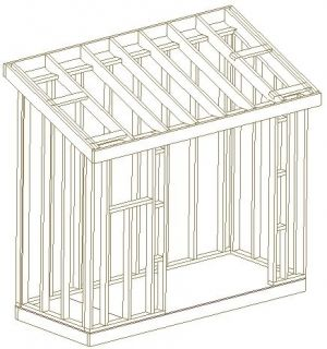 4X10 SLANT ROOF SHED, 26 GARDEN WOOD SHED PLANS, BARNS, 3D PDF CUSTOM