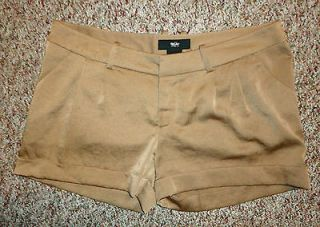 MOSSIMO womens juniors SHORTS brown bronze silky bubble shorts sz 4