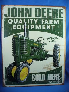 VINTAGE STYLE JOHN DEERE QUALITY FARM EQUIPMENT SOLD HERE deer green