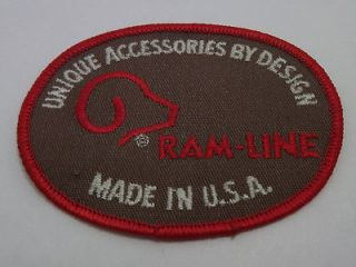 Ram Line Unique Accessories By Design Embroidered Made In USA Iron On