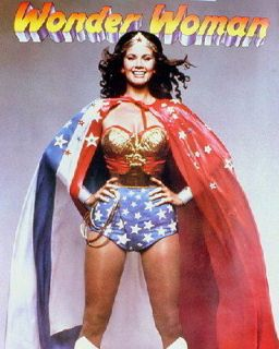 Lynda Carter wearing stars and stripes cape Wonder Woman 24X30 Poster