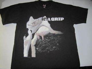 vintage 1993 AEROSMITH Get A Grip concert Rock Faded Black USA t shirt