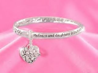 DAUGHTERS SHARE EVERLASTING BOND FAMILY LOVE HEART RING BRACELET #85 B