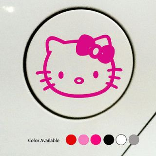 Hello Kitty Logo Decal Car Sticker fuel cover Vinyl 4.4x3.2
