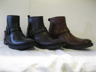 MENS BASE ANKLE BOOTS, CAVALRY, BLACK, BROWN & TAN