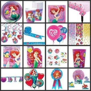 Ariel Birthday PARTY SUPPLIES   YOU PICK Set Kit Disney Princess