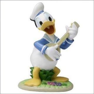 New Walt Disney Donald Duck ornament Musicians Garden Statue RARE