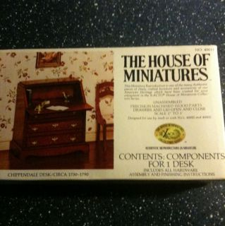 The House Of Miniatures Doll Furniture Kit Chippendale Desk 40017 NIB