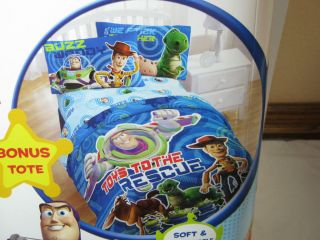 5PC Toy Story Twin Comforter, Twin Sheet Set & Rex DINOSAUR Night