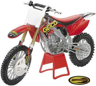 Geico Honda Crf250 New Ray Toys Dirt Bike 1:12 Scale Motorcycle