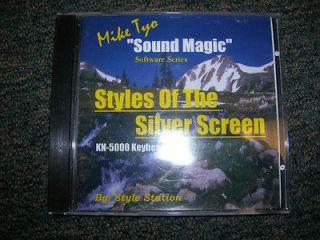 Technics Keyboard Software   Styles of the Silver Screen KN5000