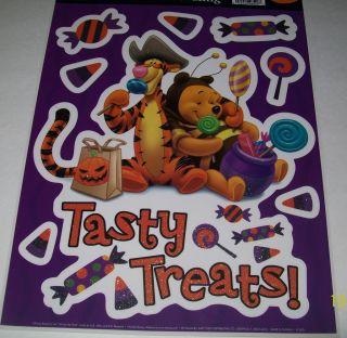 Disney Pooh Tigger + Halloween Window Cling Decoration Reusable Vinyl