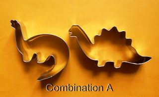 Newly listed Dinosaur party baking biscuit cookie cutter mold 2pcs/set