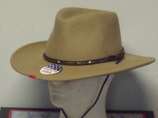 STETSON MOUNTAIN VIEW SAND CRUSHABLE WOOL WESTERN HAT