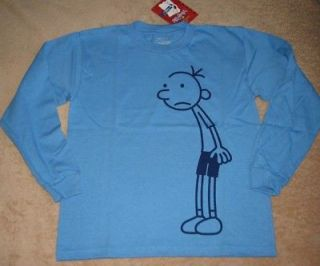 DIARY OF A WIMPY KID Book L/S Blue Tee Shirt NWT 14/16