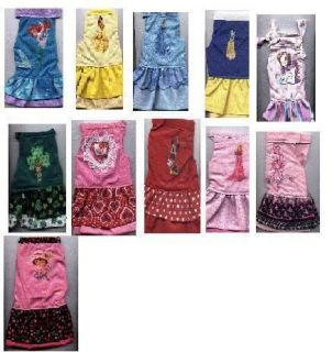 Dog Clothes Charactre Sun dresses Size/SM14 16 lbs