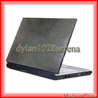 Silver Checkers 15.4 Crystal Rhinestone Bling Laptop Cover Skin Case