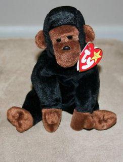 RARE 1996 Ty Beanie Baby   Black Ape Monkey